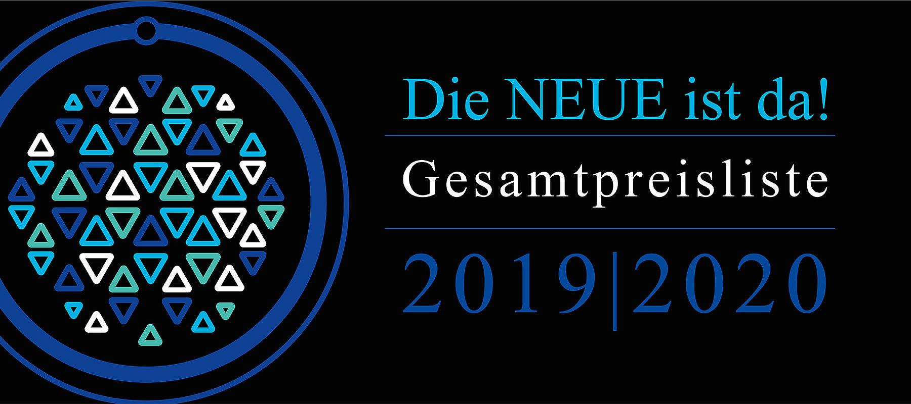 Die neue Gesamtpreisliste für 2019 & 2020 ist da!