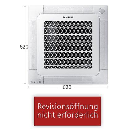 Typ Wind-Free™ Mini-Kassette 620x620 AJ 035 NBNDEH/EU | R410A